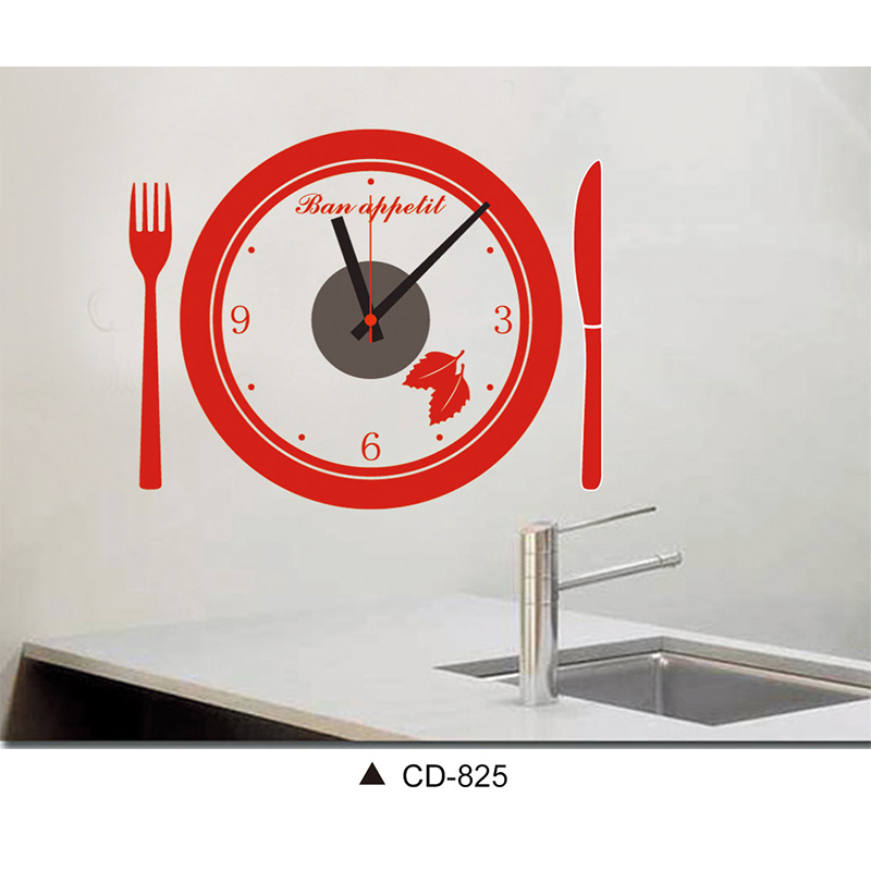 Modern Art Decor Wall Clock Sticker : Bn home diy fashion wall clock decor decal sticker
